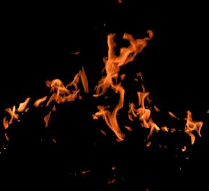 Flammen als Darstellung für Kreislaufprobleme bei Hitze und fuer brenzlige Situationen
