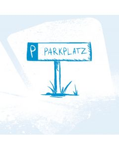 Kfz-Kennzeichen als Parkplatzschild