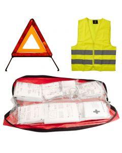 3-in-1 Erste-Hilfe-Tasche (Verbandszeug, Warndreieck, Warnweste)