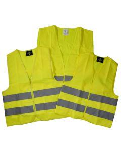 Warnweste gelb für Kinder und Erwachsene