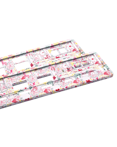 Kennzeichenhalter mit Blumen - 2 Stück