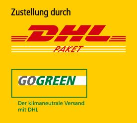 DHL-Logo - Zustellung durch