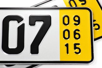 Kurzzeitkennzeichen, das Kennzeichen für Probe-und Überführungsfahrten