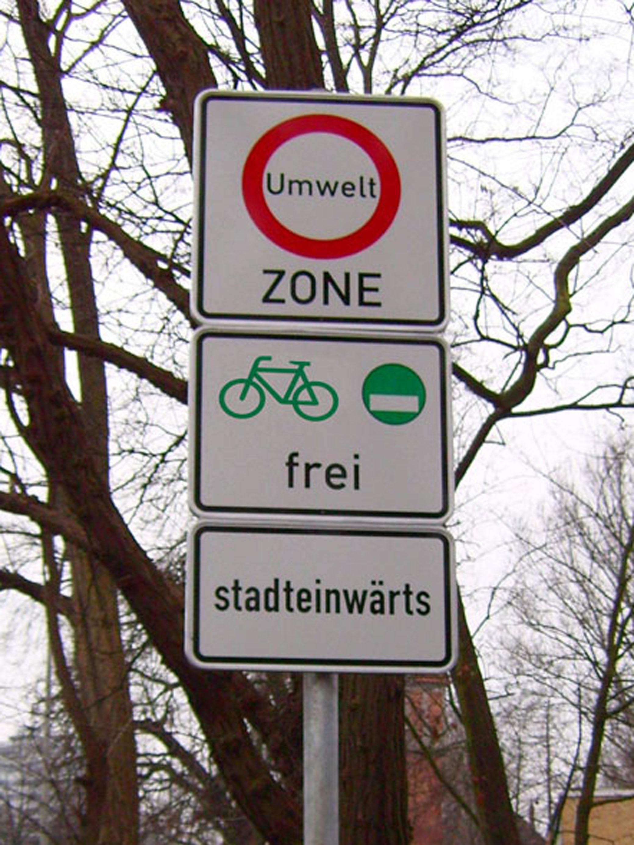 Umweltzone für Fahrräder