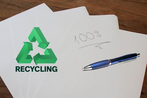 Wir verwenden umweltschonendes Recyclingpapier