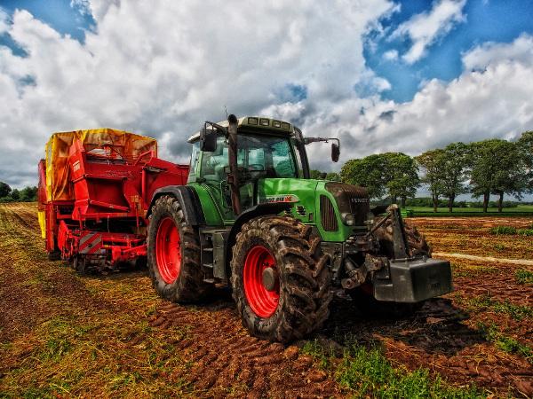 Traktoren haben häufig ein grünes Kennzeichen