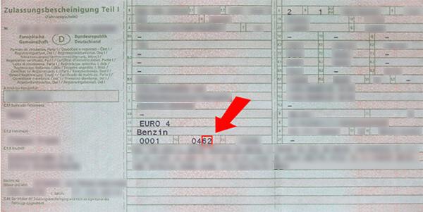 Zulassungsbescheinigung Teil I Und Teil Ii Kennzeichenbox De